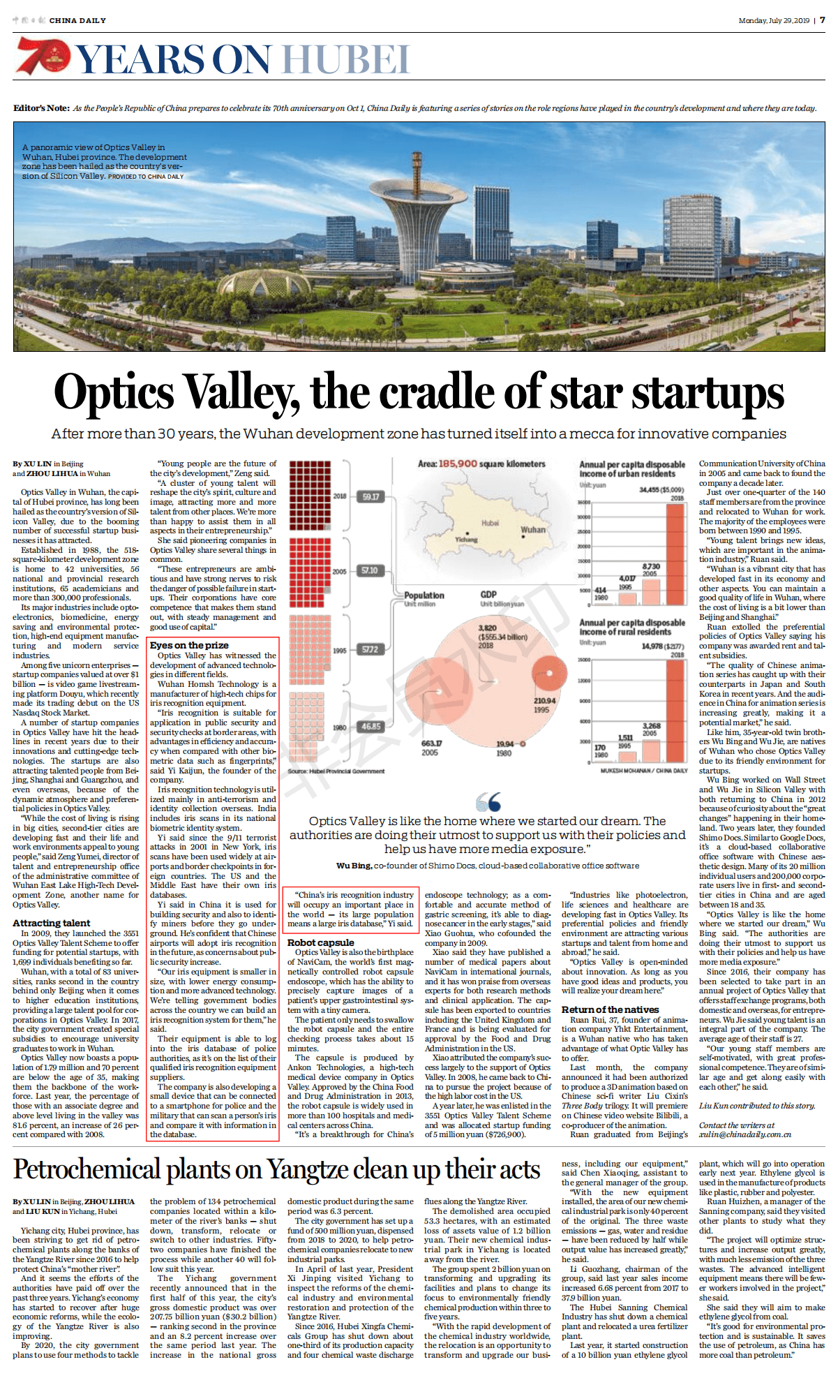 Homsh Technology reported by China Daily
